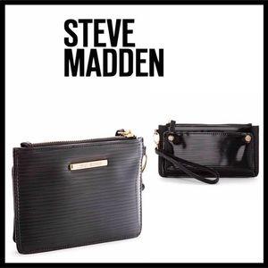 STEVE MADDEN BLACK WRISTLET WALLET CLUTCH A3C